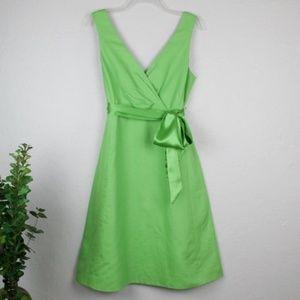 J Crew clover green Serena dress
